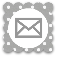 altered grey white polka dot email social media icon