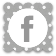 Facebook grey white polka dot facebook social media icon